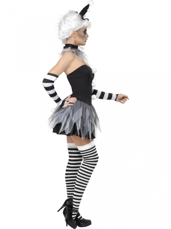 ... Ladies Sinister Pierrot Halloween Fancy Dress Costume  sc 1 st  Altered Image Fancy Dress & Ladies Sinister Pierrot Clown Halloween Fancy Dress Costume